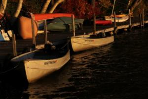 Boats at Clearwater Lodges dock